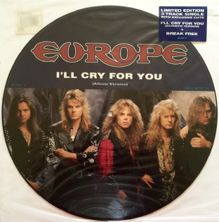 "Europe - I'll Cry For You (12"") (Picture Disc) (EX/VG+)"